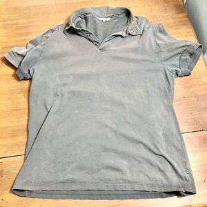 James Perse • Men's Polo Shirt • Green Cotton